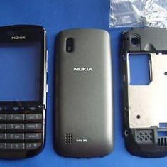 Vand Carcasa Nokia 300 Asha Noua Completa Neagra Negru