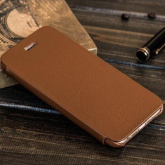 Husa piele fina HOCO Premium ORIGINALA, iPHONE 6, 6s, FLIP cover lateral, MARO - Husa Telefon