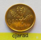 Moneda 20 Lire - ITALIA, anul 1981 *cod 1218 UNC, Europa