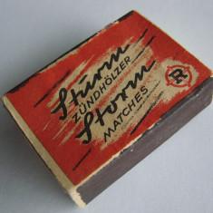 Cutie de chibrite inscriptionata Zundholzer Matches, din perioada anilor 1970