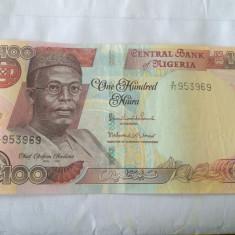 NIGERIA 100 NAIRA 2012 AUNC - bancnota africa