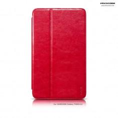 Husa tableta piele fina HOCO, SAMSUNG GALAXY TAB 4 8.0, smart cover, pe ROSU