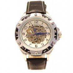 CEAS ORIGINAL GOER AUTOMATIC G111S ceas skeleton ceas barbatesc cadou ideal, Mecanic-Manual, Piele ecologica, Analog
