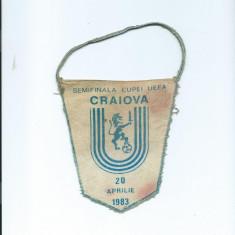 Fanion Universitatea Craiova - Benfica Lisabona (1983) - Fanion fotbal