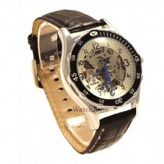CEASA ORIGINAL GOER AUTOMATIC G112S ceas skeleton ceas barbatesc cadou ideal, Mecanic-Manual, Piele ecologica, Analog