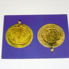 Medalion din aur, imparatul Anastasius, Romania- necirc. - 2+1 gratis - RBK9776
