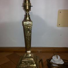 Veioza, lampa, veche, englezeasca, din bronz masiv, Veioze