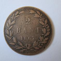 RARA! MONEDA 2 BANI 1867 WATT STARE BUNA - Medalii Romania