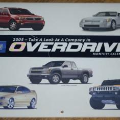 CALENDAR AUTO GM (General Motors) 2003 - Calendar colectie