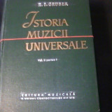 ISTORIA MUZICII UNIVERSALE-R.I. GRUBER-3 VOL- - Carte Monografie