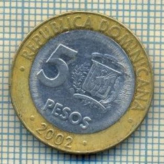 6818 MONEDA - REPUBLICA DOMINICANA - 5 PESOS - ANUL 2002 -starea care se vede, Europa, An: 1940
