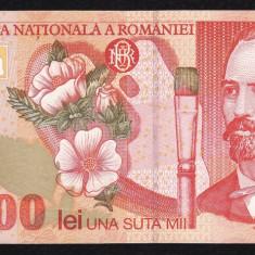 6. ROMANIA, 100000 LEI 1998, stare buna - Bancnota romaneasca