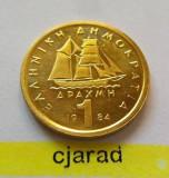 Moneda 1 Drahma - GRECIA, anul 1984  *cod 1252 --- A.UNC
