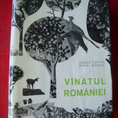 VANATUL ROMANIEI - VASILE COTTA SI MIHAI BODEA, STARE FOARTE BUNA A CARTII ! - Carte Biologie