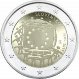 SLOVACIA 2 euro comemorativ 2015 - drapel European, UNC, Europa, Cupru-Nichel