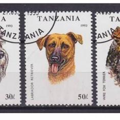 TANZANIA   1993 CAINI TIMBRE STAMPILATE, Stampilat