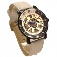 CEAS ORIGINAL GOER AUTOMATIC AVIATOR Edition ceas barbatesc ceas alb white, Mecanic-Manual, Piele ecologica