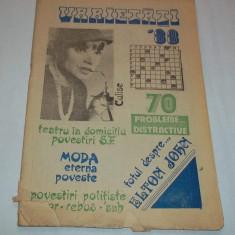 revista Varietati '88 rebus supliment Teatrul Bacovia Bacau