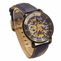 CEAS ORIGINAL GOER AUTOMATIC AVIATOR Edition ceas barbatesc ceas albastru blue, Mecanic-Manual, Piele ecologica