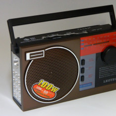 Radio Retro portabil cu MP3 player portabil cu lanterna cu acumulator intern - Aparat radio, Digital