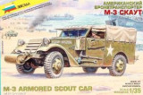 + Kit scara 1/35  Zvezda 3581 - M-3 Armored Scout Car +