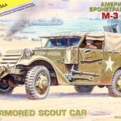 + Kit scara 1/35 Zvezda 3581 - M-3 Armored Scout Car + - Macheta auto
