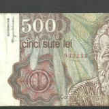 ROMANIA aprilie 1991 - BANCNOTA 500 LEI circulata, VF (serie 3113) - Bancnota romaneasca