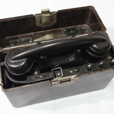Telefon de campanie militar cu manivela A.T.I. 52