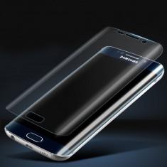 Folie Sticla Curbata protectie ecran Samsung Galaxy S6 Edge - Folie de protectie Celly, Anti zgariere