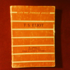 T. S. Eliot Poeme, prefata Nichita Stanescu, portret Cik Damian - Carte poezie