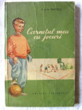 """CARNETUL MEU CU JOCURI"", I. si N. Mustata, 1955. Sport. Tiraj 8100 exemplare, Alta editura"