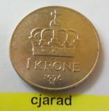 Moneda 1 Coroana - Norvegia 1976 *cod 1286, Europa