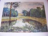 Acuarela semnata Elena Popea, Marine, Impresionism
