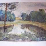Acuarela semnata Elena Popea - Pictor roman, Marine, Impresionism
