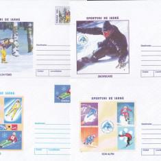 Bnk fil Lot 10 intreguri postale 2001 - Sporturi de iarna