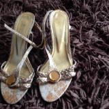 Sandale de dama, sandale vara, marimea 37, Afrodita. COMANDA MINIMA 30 LEI! - Sandale dama, Culoare: Auriu