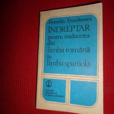 Indreptar pentru traducerea din limba romana in limba spaniola- Domnita Dumitres - Curs Limba Spaniola