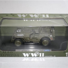 Macheta Jeep Wyllis WW II - Welly scara 1:18 - Macheta auto