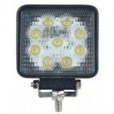 Proiector LED Auto Offroad 27W12V-24V, 1980 Lumeni, Patrat - Proiectoare tuning, Universal