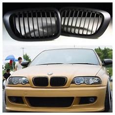Grile negre BMW Seria 3 E46 COUPE si CABRIO pana in 2003 (non facelift) - Grila, 3 cupe (E46) - [1999 - 2013]