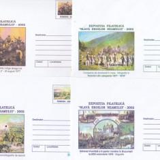 Bnk fil Lot 5 intreguri postale 2002 - Expofil Slava eroilor neamului
