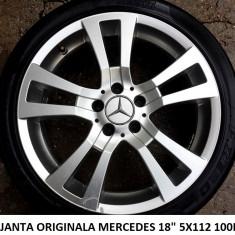 1BUC JANTA ORIGINALA MERCEDES 18 5X112 - Janta aliaj Mercedes-Benz, 7, 5, Numar prezoane: 5