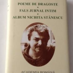 Nichita Stanescu POEME DE DRAGOSTE * FALS JURNAL INTIM * ALBUM ed. de lux - Carte de lux