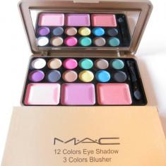 Trusa Machiaj  Profesionala MAC 12 culori pt. ochi si 3  pt obraz - Model 1