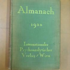 Psihanaliza almanah Viena 1928 Internationaler Psychoanalitischer Verlag Wien - Carte Psihiatrie