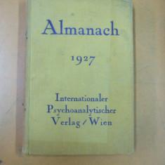 Psihanaliza almanah Viena 1927 Internationaler Psychoanalitischer Verlag Wien - Carte Psihiatrie