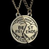 Pandantiv / Colier / Lantisor - BFF / BF - Best Friends - Friendship - 2 Bucati