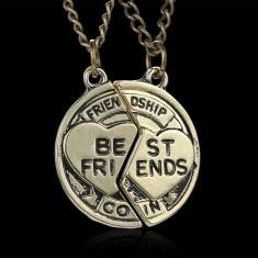 Pandantiv / Colier / Lantisor - BFF / BF - Best Friends - Friendship - 2 Bucati - Pandantiv fashion