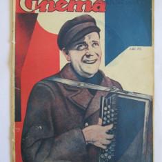 REVISTA CINEMA 1 APRILIE 1932 - Pliant Meniu Reclama tiparita