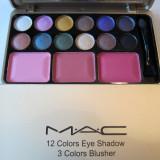 Trusa Machiaj MAC -12 colors eye, 3 colors blusher -Model 03 - Trusa make up